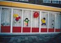 Raamschilderingen Rode Ballon